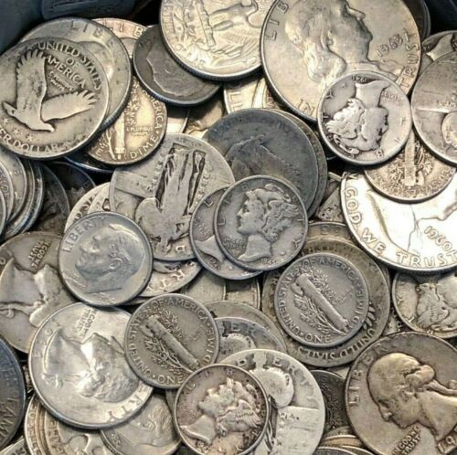 Junk Silver * $1 Face Value 90% Silver Coins * FREE SHIPPING + VOLUME DISCOUNTS!