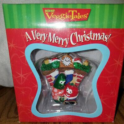 Big Idea VeggieTales A Very Merry Christmas Tree Ornament Fireplace 1999 ()