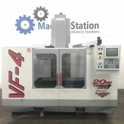 Haas Vf-4 Vertical Machining Center 4th Axis Tsc Gear Head 20hp - Vf4 Cnc Mill 3