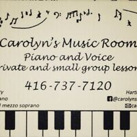 Carolyn's Music Room - Clarkson, Voice and Piano