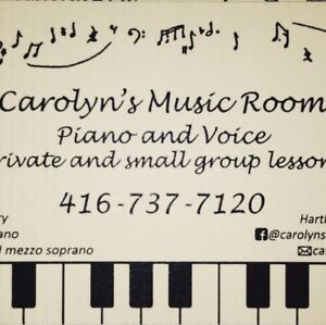 Voice and piano lessons, Carolyn's Music Room - Clarkson