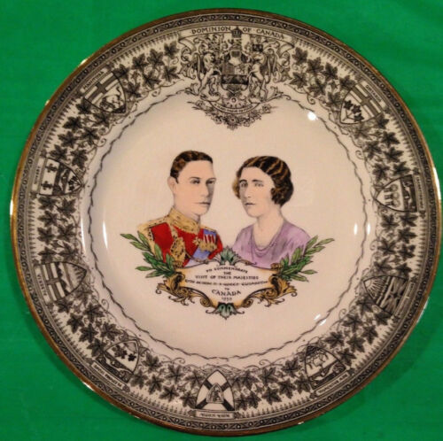 1939 COMMEMORATIVE PLATE KING GEORGE & QUEEN ELIZABETH VISIT TO CANADA