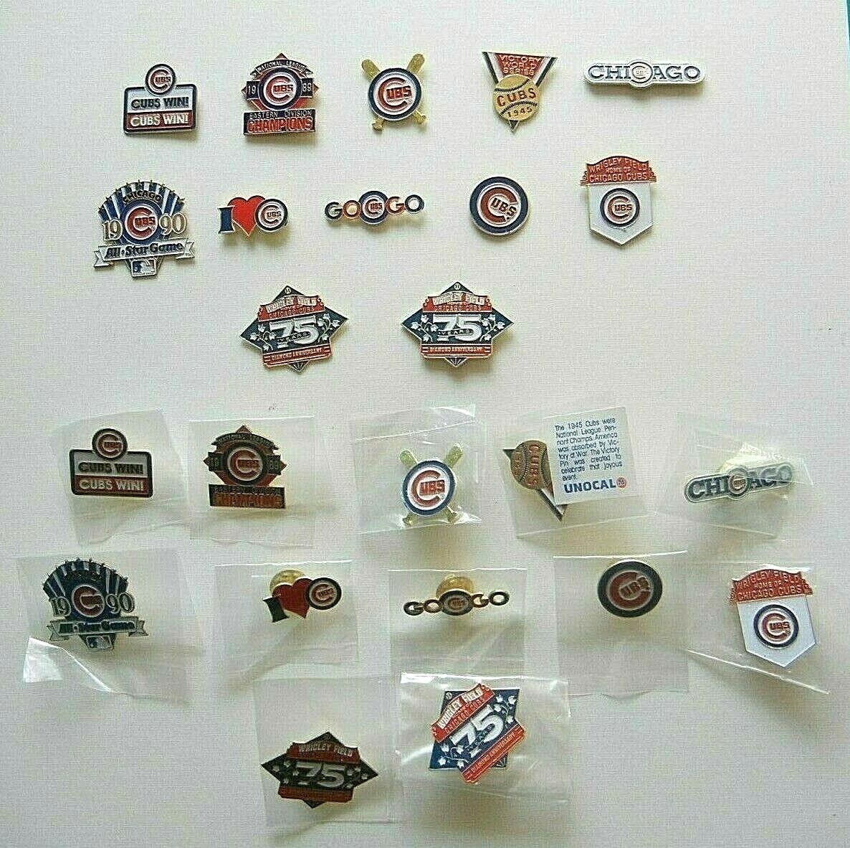 NEW!! ~ Lot of 12 Chicago Cubs Lapel Pins 'I LOVE CUBS' ~ UN
