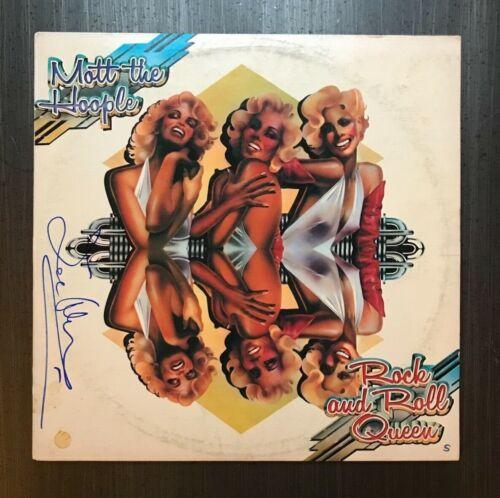 * IAN HUNTER * signed vinyl album * MOTT THE HOOPLE : ROCK & ROLL QUEEN * 1