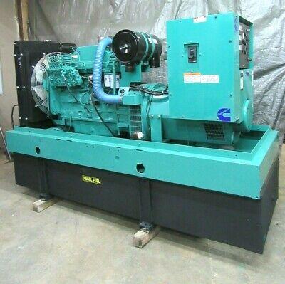 175 Kw Diesel Generator Cummins Re-connectable 294 Hours 6cta8.3-g2 8.3 Liter