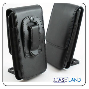 A1 -BLACK LEATHER BELT CLIP CASE POUCH COVER HOLSTER FOR HUAWEI ASCEND Y201 PRO