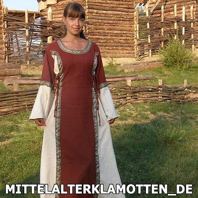 MITTELALTERKLEID, versch.Farb. S-XXXL Burg Frauen Kleid Mittelalter Burgfräulein