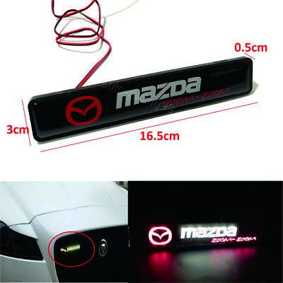 MAZDA Logo LED Light Car Front Grille Badge Emblem Illuminated Bumper Sticker