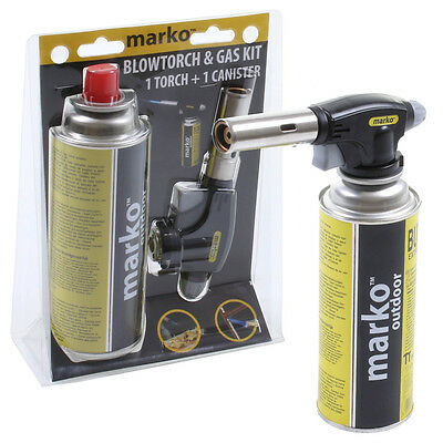 Marko Blow Torch Butane Gas Flamethrower Burner Welding 1 Gas Soldering UK Stock