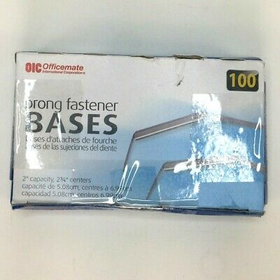 Officemate Prong Paper Fastener Bases Only 2 Inch Capacity 2.75 Inch Base