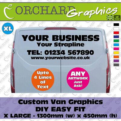 DIY Custom Business Van Vinyl Graphics Signs Stickers Decals Personalised XL