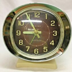 Vintage 1970's Westclox Baby Ben Wind Up Alarm Clock Illuminated Numbers *