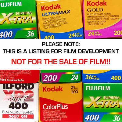 35mm / 126 / 110 / 120 Colour Film DEVELOPING Only Service