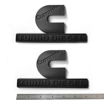 2x OEM 2019 Ram 2500 3500 Cummins Emblem Turbo Diesel Badge A Black 68358494AA