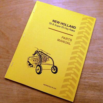 New Holland 55 Hay Rake Super Parts Catalog Book List Manual Sperry Nh