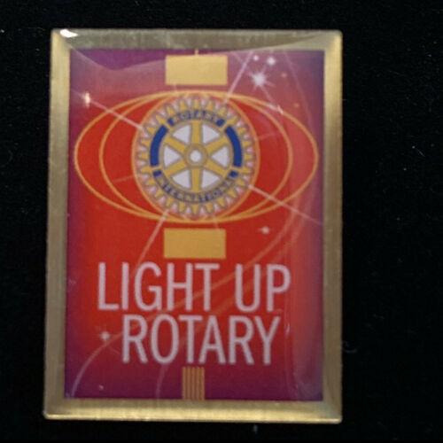 Rotary International Pin LIGHT UP ROTARY 2014-15 Theme