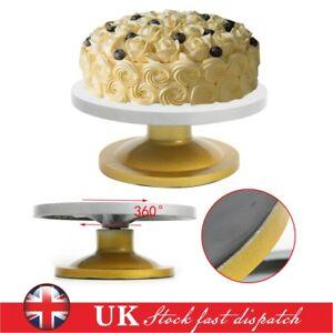 30cm Heavy Duty Kitchen Turntable Cake Stand Icing Rotating Cake Decorating UK
