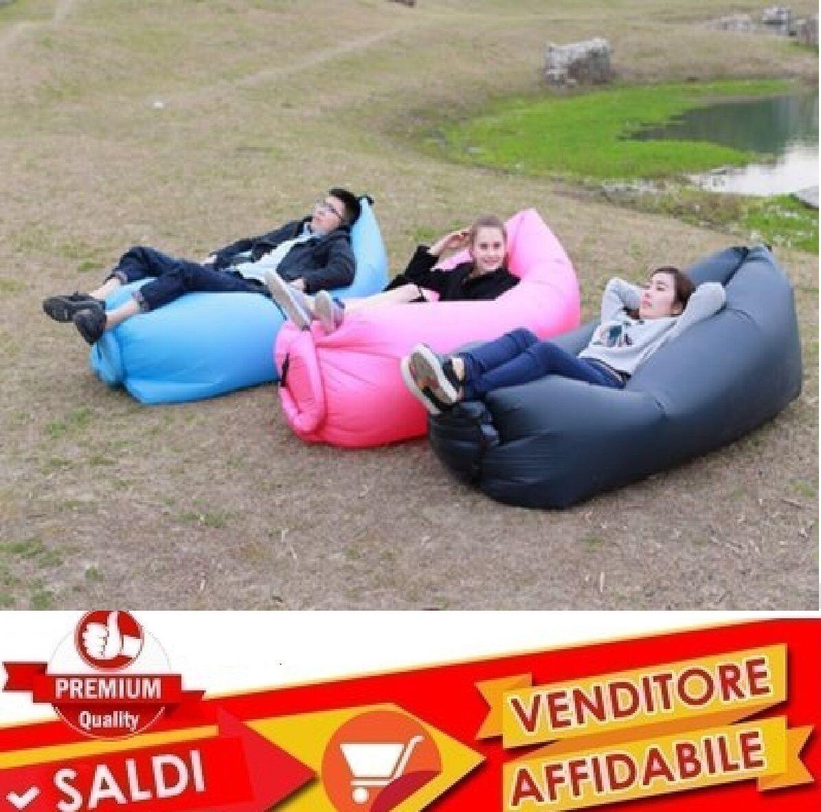 Sacco gonfiabile materasso materassino aria spiaggia campeggio relax NEW 2017