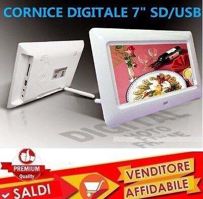 CORNICE DIGITALE 7'' POLLICI USB FOTO VIDEO MP3 JPG SD CARD CON TELECOMANDO NEW