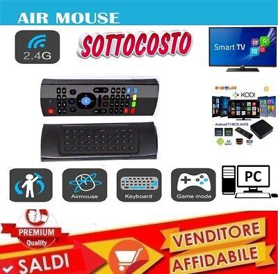 TELECOMANDO MOUSE TASTIERA SMART REMOTE WIRELESS USB ANDROID TV BOX RICARICABILE