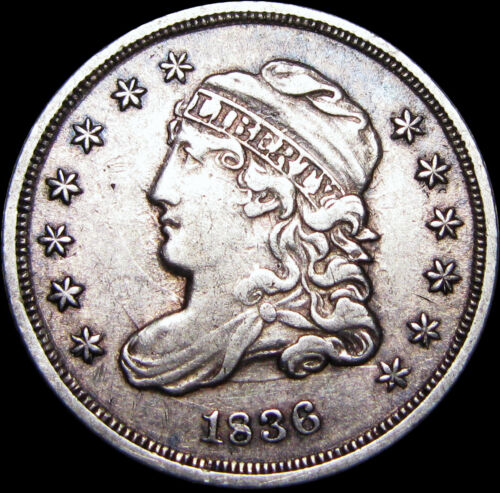 1836 Capped Bust Half Dime Silver US Coin ---- Type Coin Nice  ---- #B902