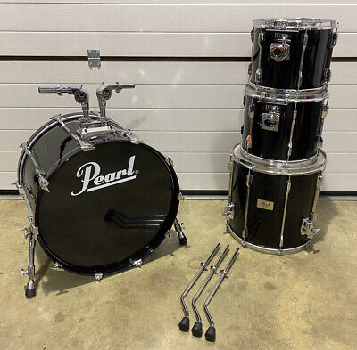 Pearl Session Elite 4 Piece Rock Size Drum Kit Shell Pack / Piano Black