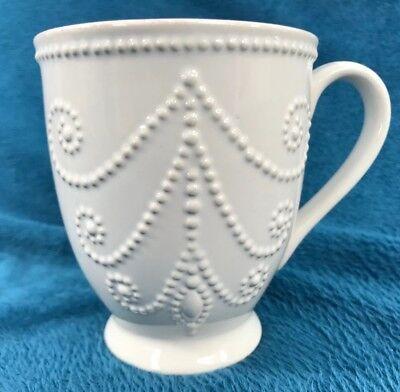 "Lenox French Perle White Mug 12 Ounce Coffee Cup 4.5"" 822955 - French White-mug"
