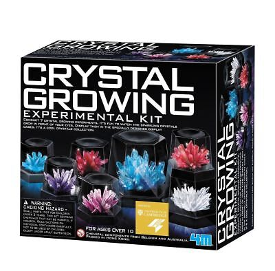 NEW 4M Crystal Growing Experiment Science Kit for Kids Conduct 7 Crystals](Science Toys)