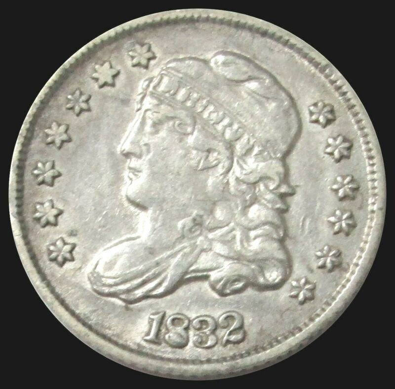1832 SILVER CAPPED BUST HALF DIME TYPE COIN EXTRA FINE