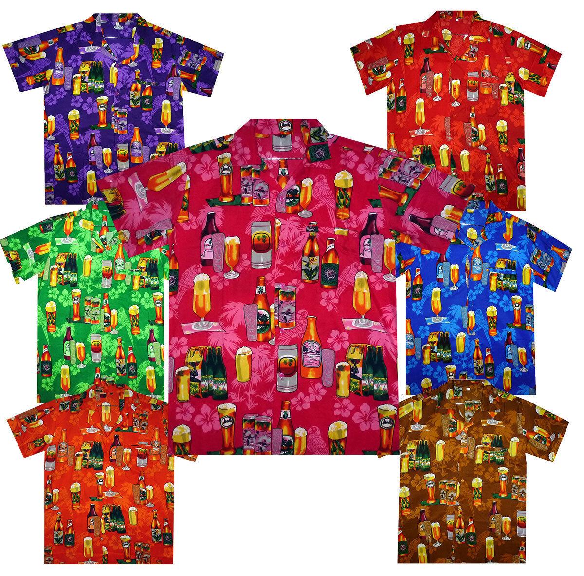 Funky Hawaiihemd Beer Bottle Multi Hawaiian Shirt