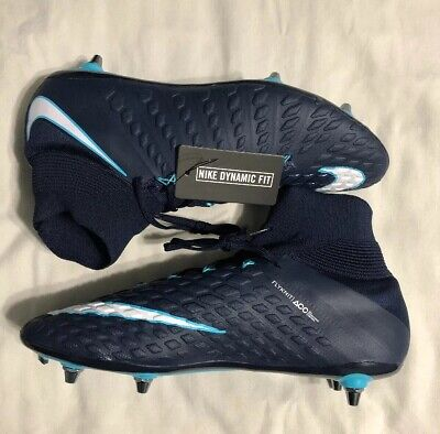 aa766dcbe1855 Nike Hypervenom Phantom 3 III SG Pro Cleats Blue White 881780-415 Size 11