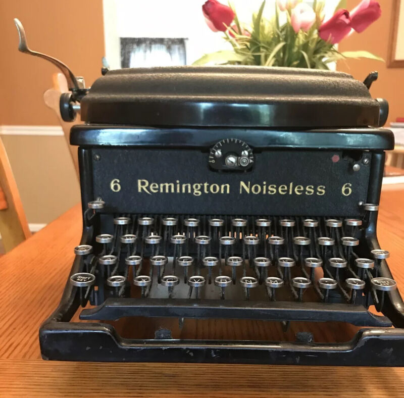 Rare Transistional 1927-28 Remington Rand Model 6 Noiseless Typewriter XR222182