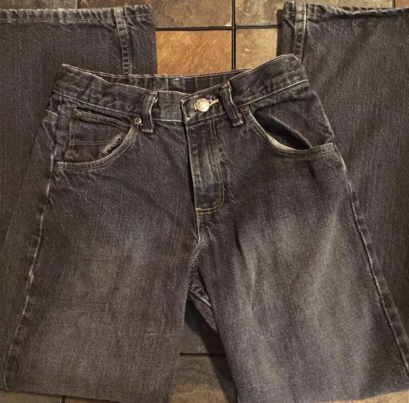 Wrangler Boys Jeans Size 12 Regular Black Adjustable Waist