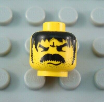 LEGO Yellow Minifigure Head Body Part with Thick Angry Moustache](Mustache Part)