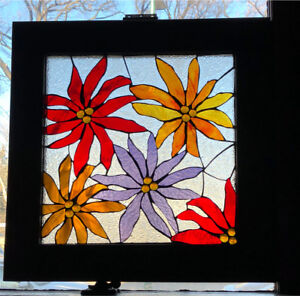Beautiful antique stain glass window