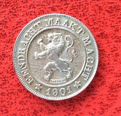 Belgique - Léopold II - Très Jolie et Rare Monnaie de 10 Centimes 1901 VL