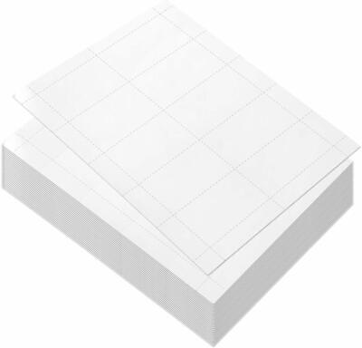 White 100 Sheets Blank Business Card Paper 1000 Business Card Stock For Inkjet A