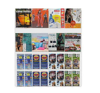Wall Mount 24 Pocket Combination Brochure and Magazine Display (Pocket Wall Mounted Pamphlet Display)