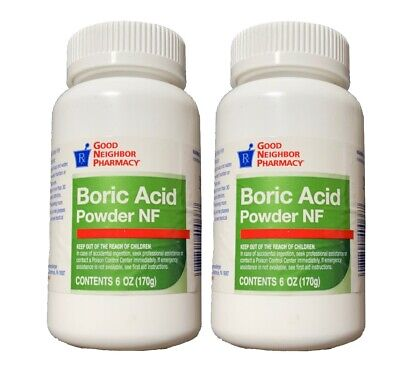 GNP (2-Pack) Boric Acid Powder NF 6oz 170g Each Best By