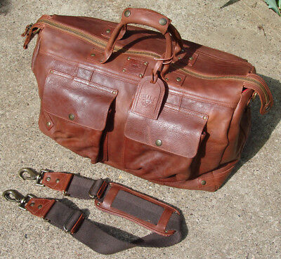 Will Leather Goods Leather Traveler Duffle in Cognac $895