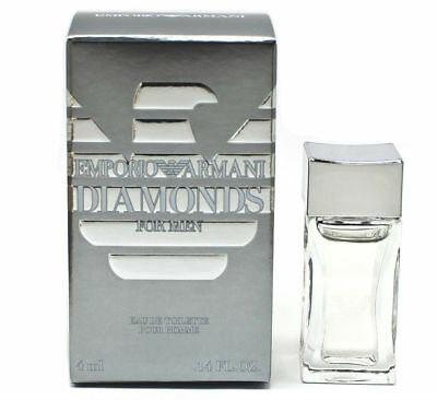 Emporio Diamonds for Men Giorgio Armani EDT Mini Splash 0.14 oz - New in Box