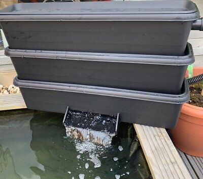 Bakki Shower Trickle Filter With Lid , Koi , Pond 80cm
