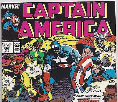 Captain America #352 Evil Avengers? from Apr. 1989 in Fine con. Avengers Movie