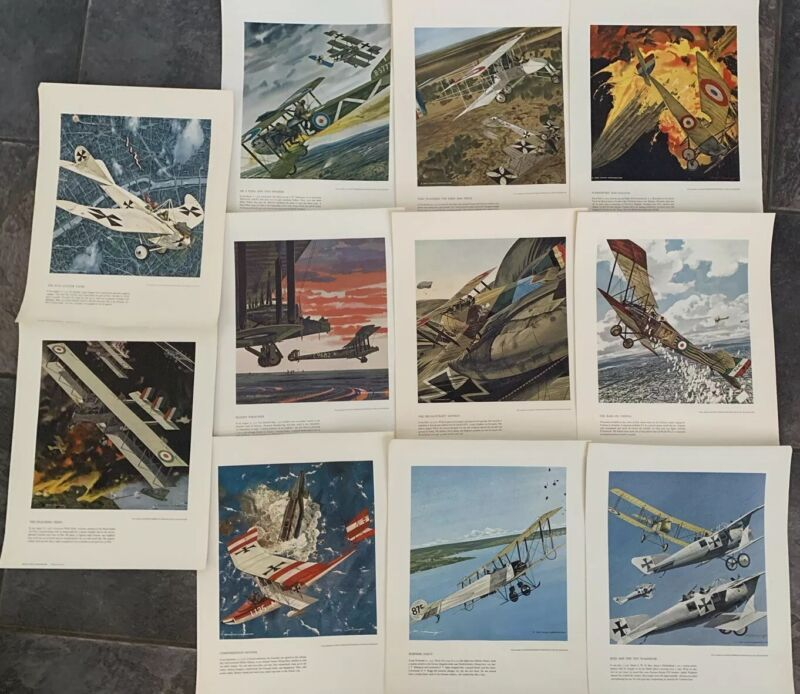 LOT of 10 Leach Corp Heritage of the Air Aviation Aircraft Art Prints