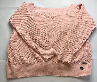 Abercrombie & Fitch  PINK OFF THE SHOULDER KNIT SWEATER NWT XLARGE