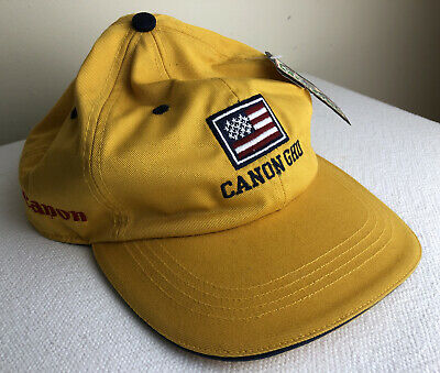 Vintage GHO Canon Open Golf Hat Patriotic American Flag NWTs Adjustable