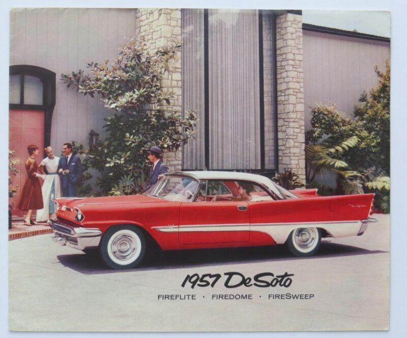 1957 DeSoto Foldout Fireflte Firedome Firesweep Brochure Vintage Original