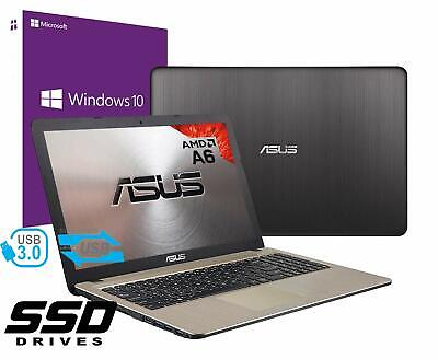 "Notebook Asus Vivobook Pc 15.6"" AMD A6 4Gb SSD 480GB Windows 10 PRO Open Office"