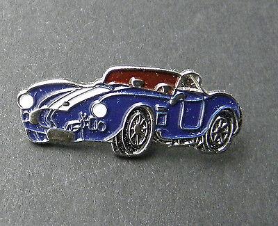 BLUE SHELBY COBRA AUTOMOBILE CAR LAPEL PIN BADGE 3/4 INCH