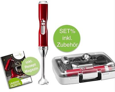 KitchenAid Artisan AKKU Stabmixer SET - Pürierstab inkl. Zubehör - Candy Apple (Candy Apple Mix)